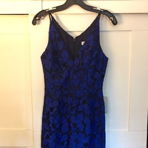 Blue Aurora Lace Dress The Population dress NWT!